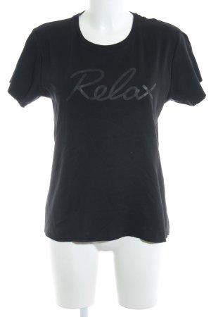 Diesel T-Shirt schwarz schlichter Stil