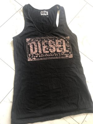 Diesel Muscleshirt zwart