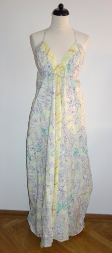 DIESEL! Trendiges, neuwertiges Sommerkleid aus Baumwollbatist, Empire-Schnitt, rückwärts mit aufgenähter Schleppe, bodenlang, Gr. M