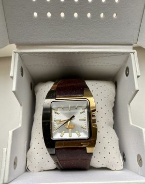 Diesel Watch With Leather Strap gold-colored-brown