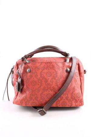 Diesel Sac bandoulière rouge-brun Mélange de motifs style décontracté