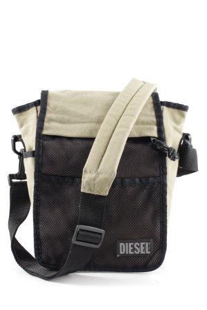 Diesel Sac bandoulière noir-blanc cassé style décontracté