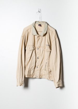 Diesel Unisex Denim Jacket in Beige