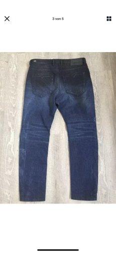 Diesel Boyfriend jeans donkerblauw-donkerbruin