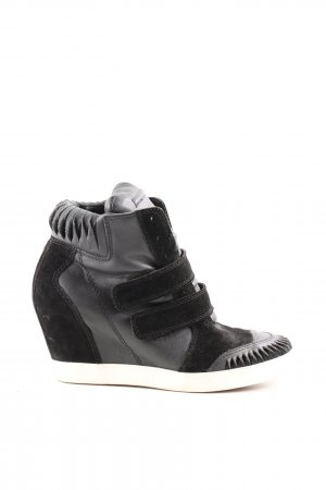 Diesel Wedge Sneaker schwarz-hellgrau Casual-Look