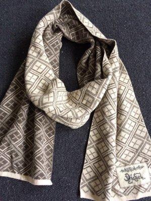 Diesel Wollen sjaal lichtbruin-lichtgeel Katoen