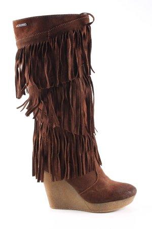 Diesel Western Laarzen bruin straat-mode uitstraling