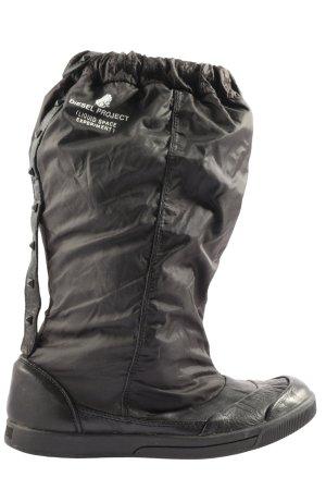 Diesel Winter-Stiefeletten schwarz-weiß Motivdruck Casual-Look