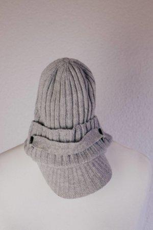 Diesel Chapeau en tricot gris clair-gris laine