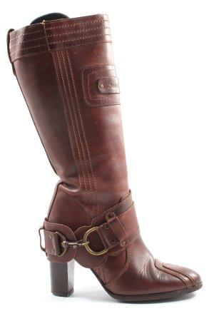 DieselStyleLab Wysokie buty na obcasie brązowy W stylu casual