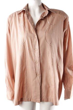 Dif Vintage-Bluse altrosa bestickt