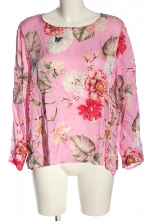diff Langarm-Bluse Allover-Druck Casual-Look