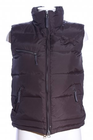 Different Down Vest brown quilting pattern casual look