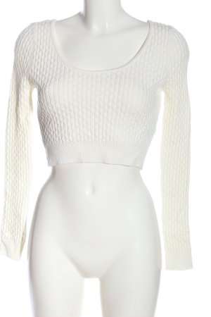 Dilvin Cropped Shirt weiß Casual-Look