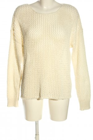 Dilvin Coarse Knitted Sweater cream casual look