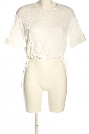 Dilvin Short Sleeved Blouse white casual look