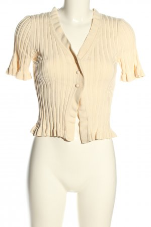Dilvin Short Sleeve Knitted Jacket cream casual look
