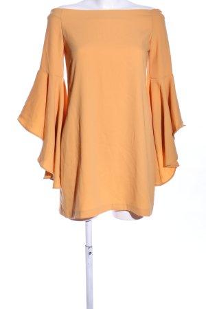 Dilvin schulterfreies Kleid hellorange Casual-Look
