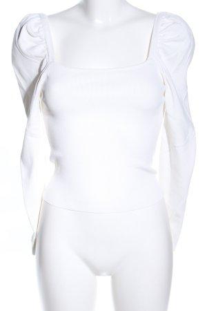 Dilvin Maglione lavorato a maglia bianco elegante
