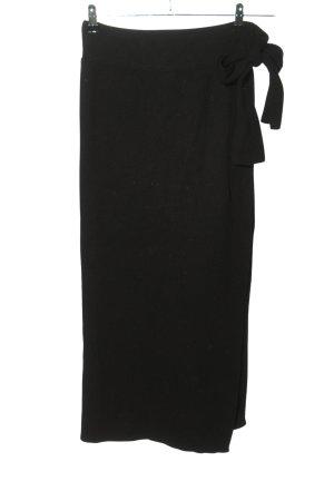 Dilvin Jupe tricotée noir style décontracté
