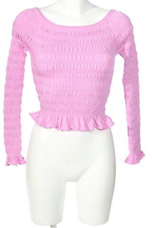 Dilvin Longsleeve pink casual look