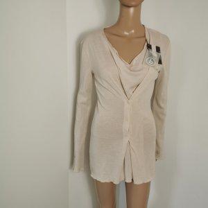 Dimensione Danza Damen Feinstrick Pullover Longsleeve 2in1 Look creme Größe S