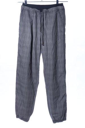 Dimensione Danza Pantalone jersey grigio chiaro-blu motivo a quadri stile casual