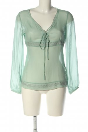 Dine 'n' Dance Transparent Blouse turquoise elegant
