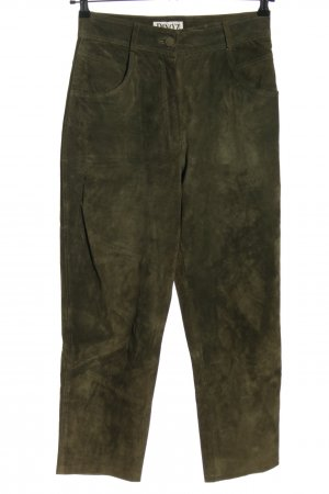 Dino'Z Leather Trousers khaki casual look