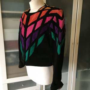 Dino'z Vintage Echtleder Blouson Colour Blocking Gr. 42