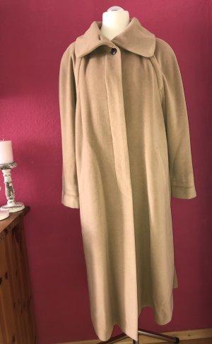 Dinomoda Abrigo de lana camel lana de esquila