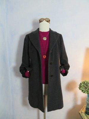 Dinomoda Wool Coat anthracite-magenta mixture fibre
