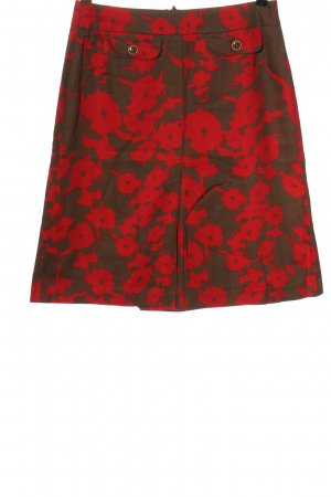Dinomoda High Waist Skirt red-brown allover print casual look