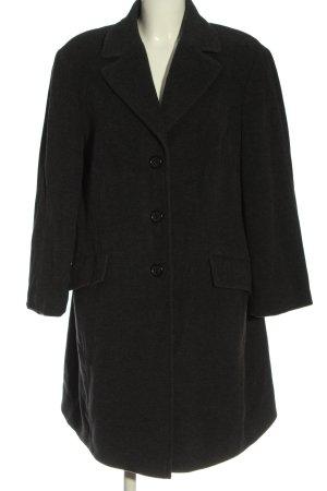 Dinomoda Between-Seasons-Coat black weave pattern casual look