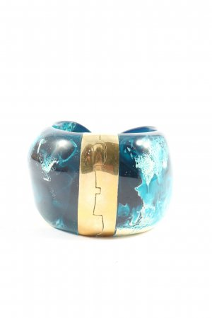 dinosaur designs Sztywna bransoletka niebieski-złoto Abstrakcyjny wzór