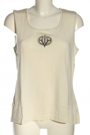 Dinovaliano A Line Top natural white themed print casual look