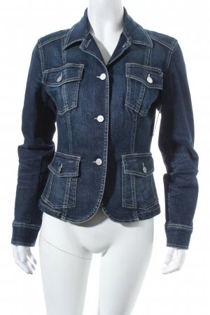 Dinovaliano Jeansblazer dunkelblau Washed-Optik
