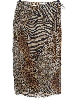 Dinovaliano Wraparound Skirt allover print extravagant style