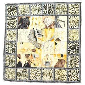 Dior Écharpe en tricot beige soie