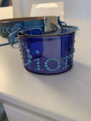 Dior Bangle paars-babyblauw kunststof