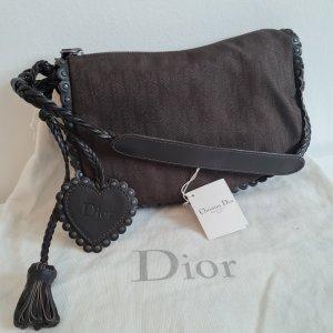 Christian Dior Hobo ciemnobrązowy-brązowy Tkanina z mieszanych włókien