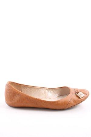 Dior Ballerinas mit Spitze hellorange Business-Look