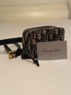 Christian Dior Buiktas wit-blauw Linnen