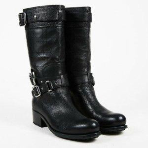 Christian Dior Biker Boots black leather