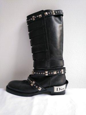 Dior Motorlaarzen zwart Leer