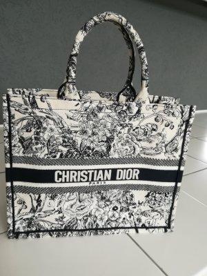 Christian Dior Shopper wit-donkerblauw