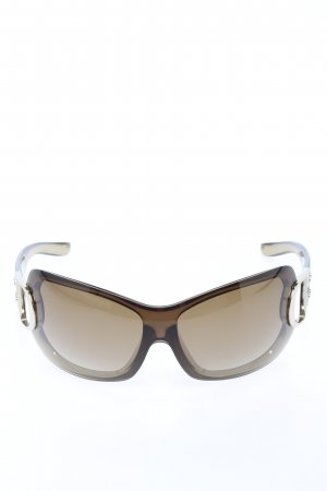 Dior ovale Sonnenbrille braun Casual-Look