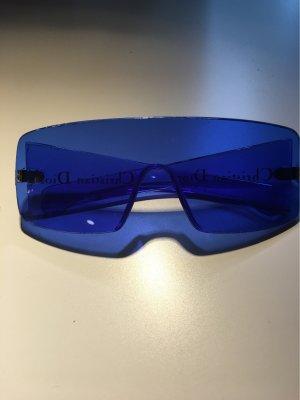 Christian Dior Lunettes de soleil angulaires bleu fluo