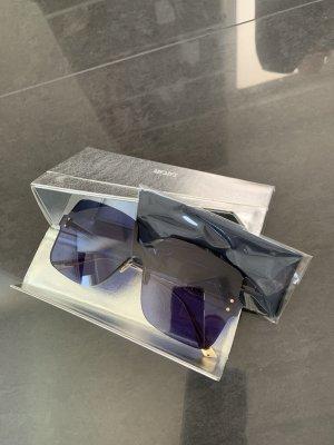 Dior Hoekige zonnebril blauw