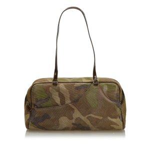 Dior Camouflage Suede Shoulder Bag